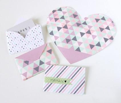 como hacer un sobre con papel de regalo para tarjetas