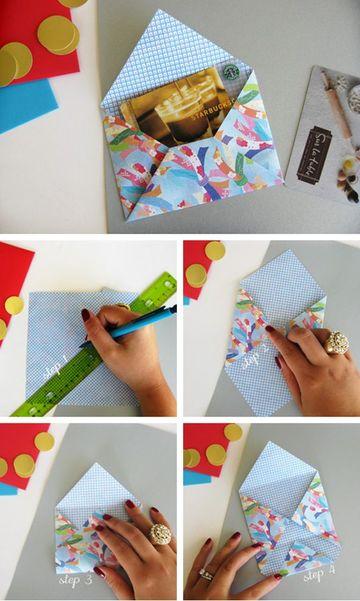 como hacer un sobre con papel paso a paso