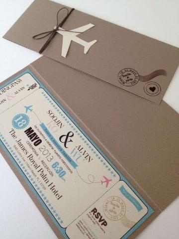 como realizar tarjetas de invitacion para boda