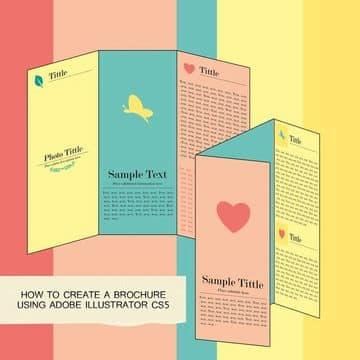 como se hace un brochure en ilustrator