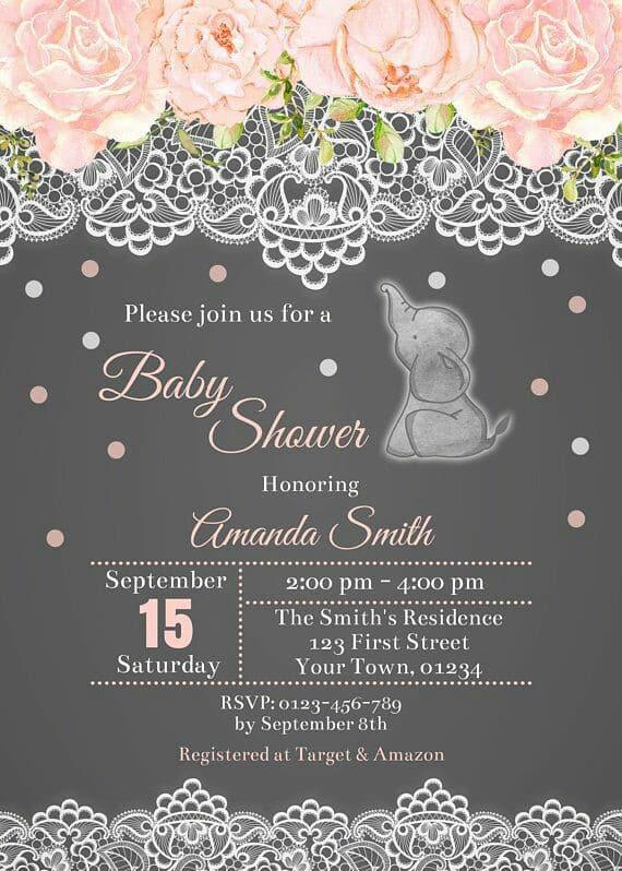 diseños de invitaciones para baby shower de niña para imprimir