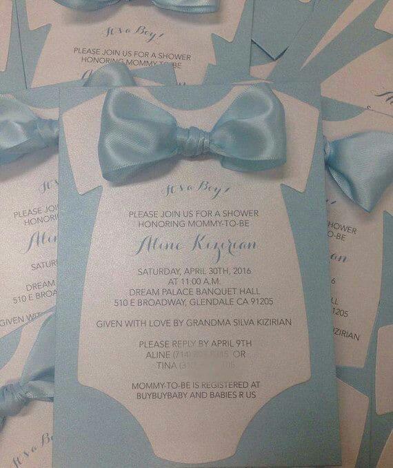 diseños de invitaciones para baby shower de niño