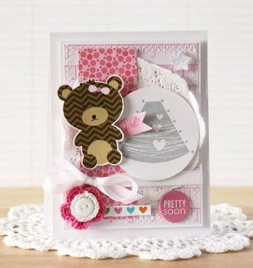 diseños de tarjetas para baby shower niña