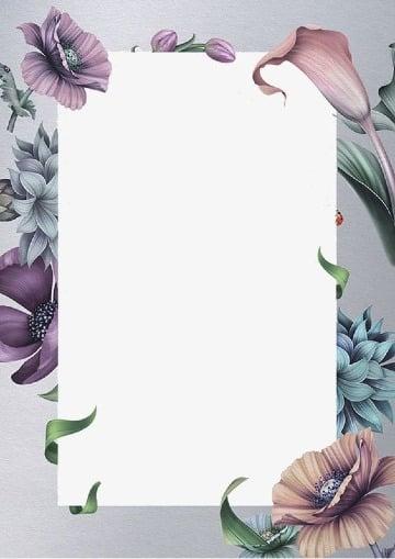 fondos para tarjetas de 15 años con flores