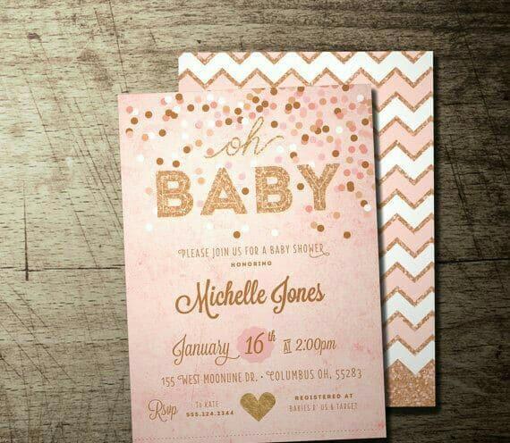 Diversos Diseños De Invitaciones Para Baby Shower