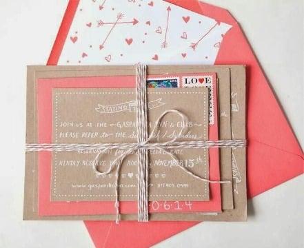 imagenes de sobres de papel kraft para invitaciones