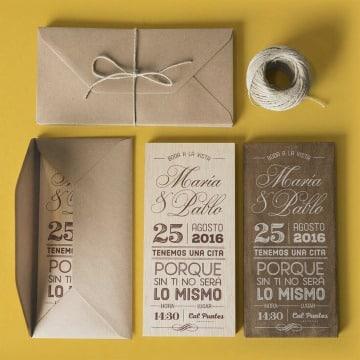 modelos de sobres de papel kraft para invitaciones