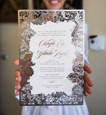 modelos de tarjetas para matrimonio modernas