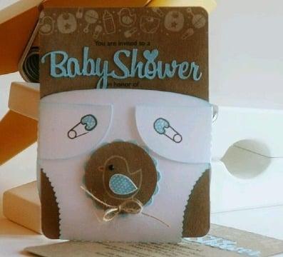 originales diseños de tarjetas para baby shower