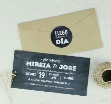 sobres de papel kraft para invitaciones de boda