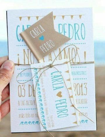 tarjetas para matrimonio civil sencillas
