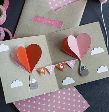 cartas con hojas de colores faciles de hacer