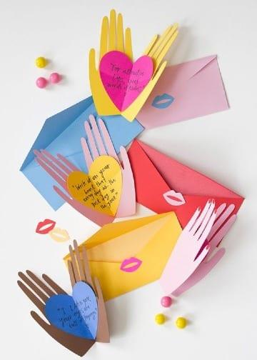 cartas con hojas de colores para regalar