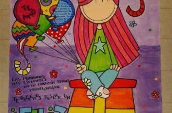 carteles de cumpleaños en cartulina para una amiga