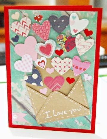 como hacer tarjetas de aniversario de amor
