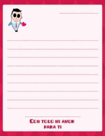 formatos de cartas de amor para descargar