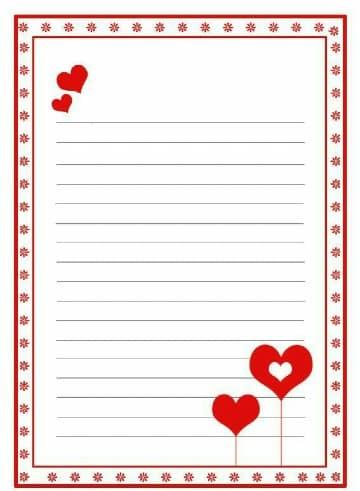 formatos de cartas de amor para editar