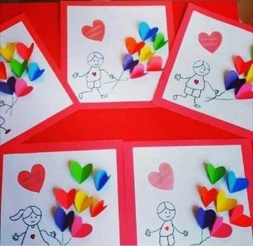 imaganes de cartas con hojas de colores