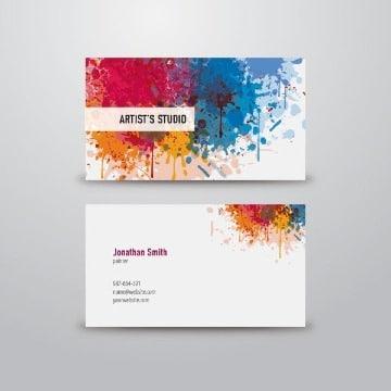imagenes de tarjetas de presentacion de pintores