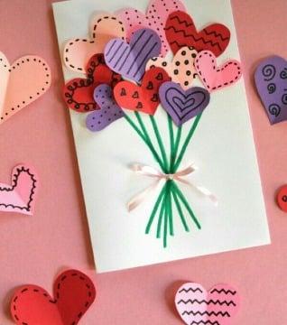 tarjetas con hojas de colores para regalar