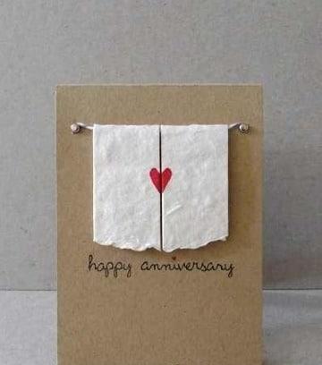 tarjetas de aniversario de amor diy