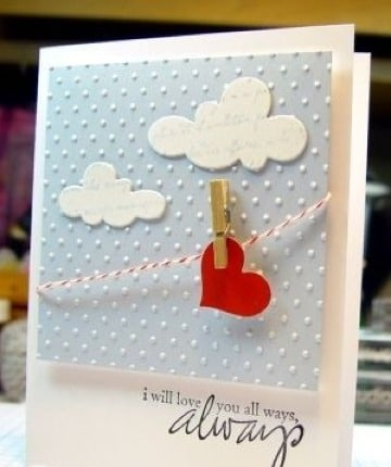tarjetas de aniversario de amor sencillas