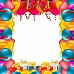 tarjetas de cumpleaños con foto para editar