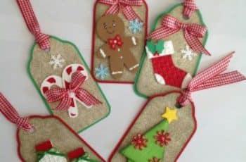 tarjetas para regalos de navidad caseras