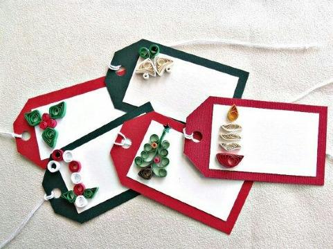tarjetas para regalos de navidad de papel