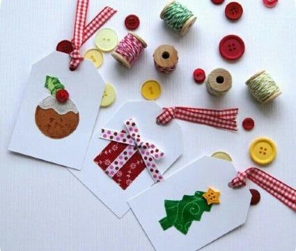 tarjetas para regalos de navidad faciles
