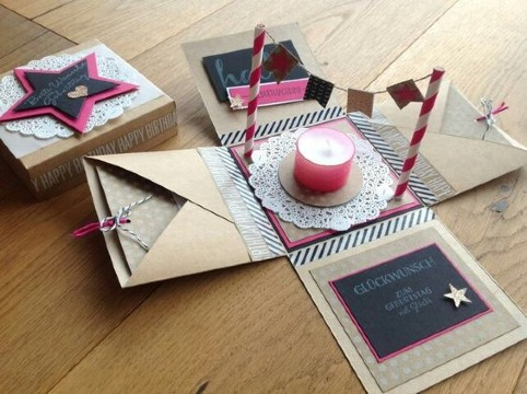 como hacer tarjetas de cumpleaños creativas