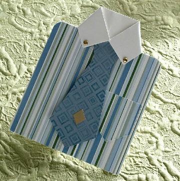 tarjeta en forma de camisa para dia del padre