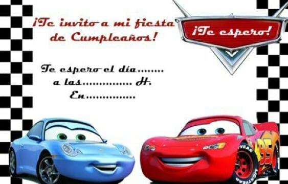tarjetas de cumpleaños de cars para imprimir