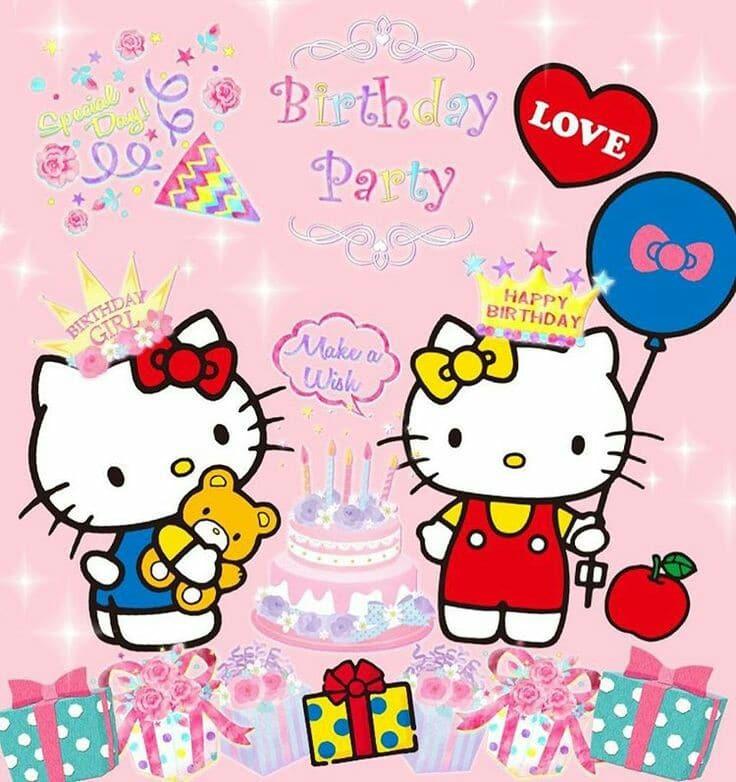 tarjetas de cumpleaños de hello kitty para imprimir