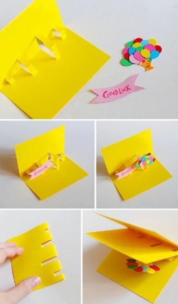 como hacer tarjetas hechas de cartulina