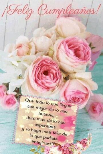 tarjetas de cumpleaños con flores para enviar