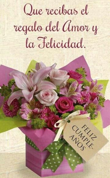 tarjetas de cumpleaños con flores para imprimir