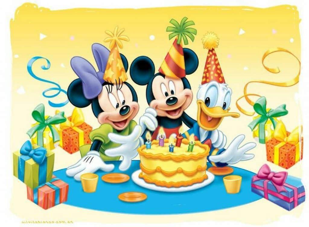 tarjetas de cumpleaños de mickey para editar