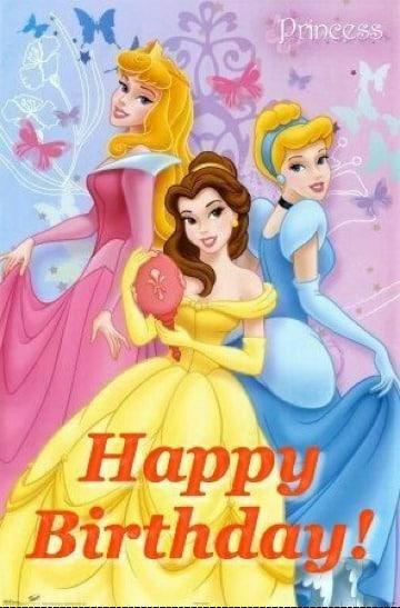 tarjetas de cumpleaños de princesas para imprimir