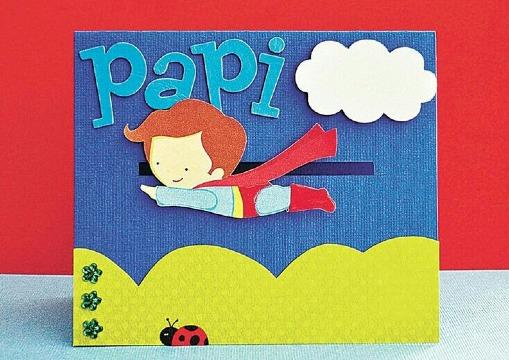 tarjetas del dia del papa faciles