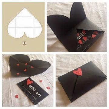 como hacer sobres para cartas de amor