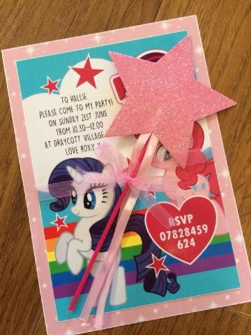 diseños de invitaciones de little pony