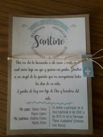 diseños de tarjetas de bautizo para niño