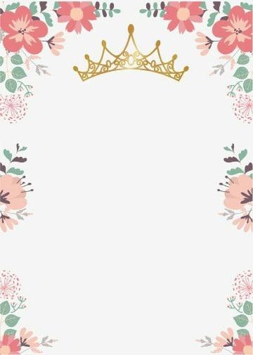 fondos de flores para invitaciones de niña