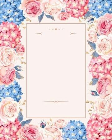 fondos de flores para invitaciones para editar