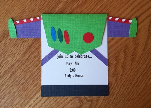 invitaciones de buzz lightyear creativas