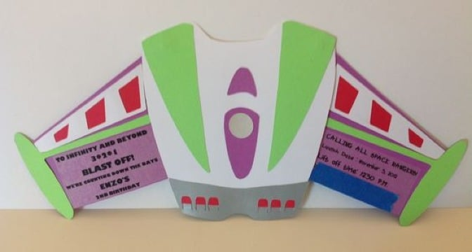 invitaciones de buzz lightyear nave