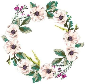marcos de flores naturales para fotos
