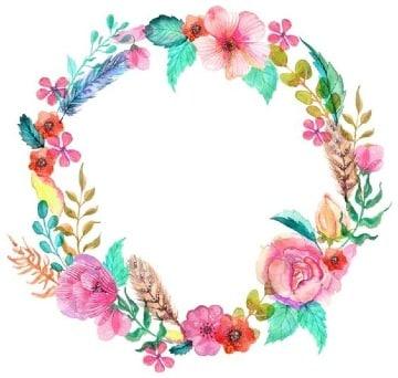 marcos de flores naturales para imprrimir