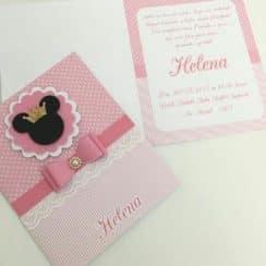 modelos de invitaciones de minnie rosa